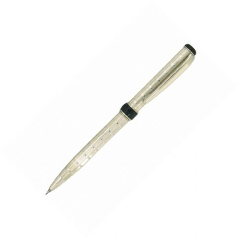 Sterling Silver Mechanical Pencil - Via Roma Rings Design - Hallmarked Sterling Silver